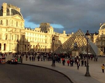 Sunny Louvre on a Rainy Day