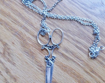 silver sewing scissors