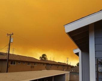 Fire in the Sky In OC CA Photo