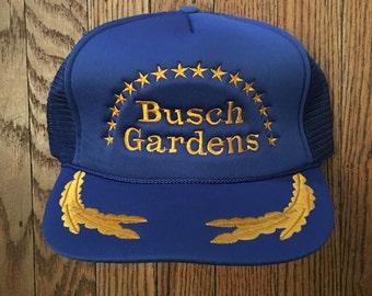 Vintage Busch Gardens Mesh Trucker Hat Snapback Baseball Cap