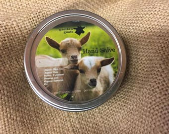 Lavender Hand Salve made with farmstead beeswax and organic oils