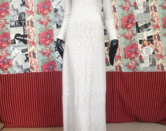 Light gray long knitted dress