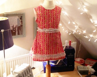 Girls Christmas Tree Cutout Dress (4 - 5Y)