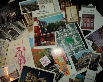 Paris Collage Package - Mixed Media, Arts and Crafts, Travel Journals, Artist Trading Cards