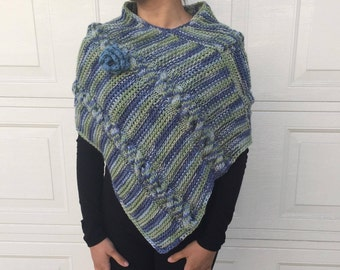 Beautifully Crafted Hand Knit Poncho