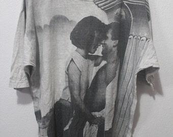 Vintage 90s JAG full print romance couple sweet memory classic tee shirt