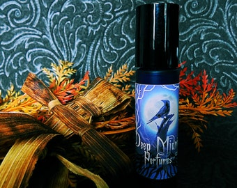 CORN DOLLY Perfume Oil - Sweet corn husks, dried herbs, oakwood fire, amber, leaves - Gothic Autumn - Fall Fragrance