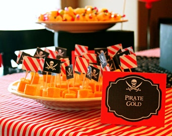 Pirate Party Food Labels - INSTANT DOWNLOAD Printable Pirate Labels by Printable Studio