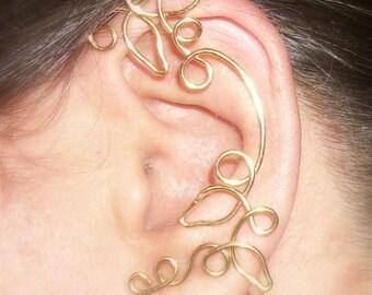Ear Cuff, Vine Jewelry, ear jewelry, ear climber, ear wrap, ear jacket, silver plate, non pierced