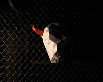 Simon the Bull Digital Download - Papercraft Template