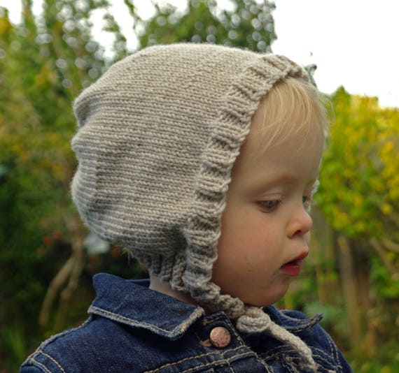 Easy knitting pattern / Baby bonnet / Beginner baby hat