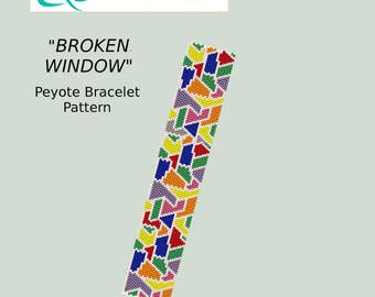Broken Window Peyote Bracelet Pattern