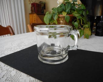 Vintage Clear Glass Shaving Mug / Cup  ***FREE SHIPPING***