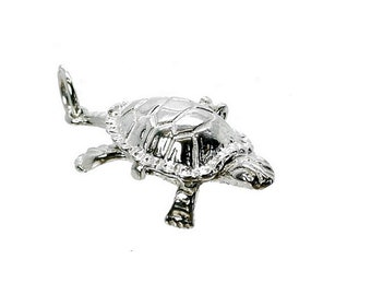 Sterling Silver Opening Tortoise & Hare Charm For Bracelets