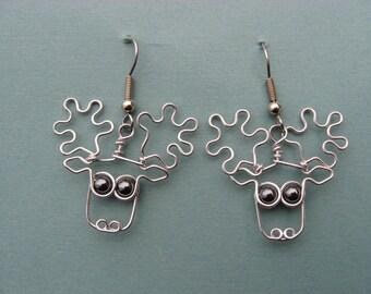 Boucles d'oreilles orignal enroulé exempt de nickel