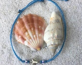 Custom Adjustable Waterproof Heart Bracelet