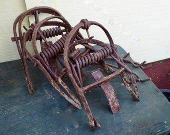 Vintage Mole Traps: Rusty Rustic Circa Early 1900's