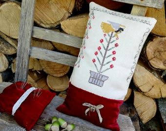 xmas tree cross stitch primitive pattern