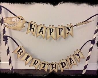 """Dinosaur """"Happy Birthday"""" Cake Topper"""