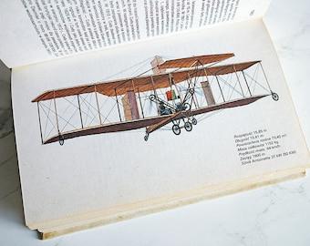 Vintage Illustrated Plane Book   Vintage Plane Illustrations   Plane Illustrations   Plane book