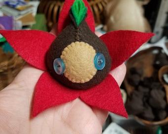 Red Leaf Buckeye Seedy Guy with Light Blue Button Eyes