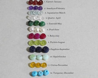 Add on Birthstone, Gemstones, All birthstones are available, personalized birthstone