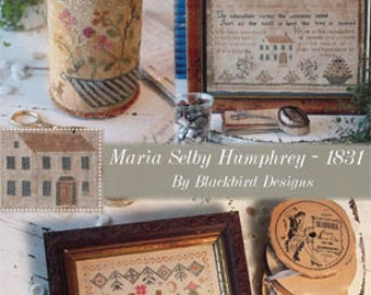 BLACKBIRD DESIGNS Maria Selby Humphrey 1831 counted cross stitch patterns at thecottageneedle.com