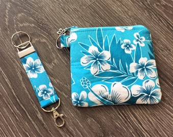 Gift Set, Coin Purse, Zippered Pouch,  Business Card Holder, Credit Card Holder, Coin Pouch with Matching Key Fob & Gift Tag