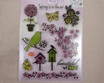 Stamp set pattern spring transparent