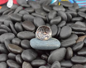 Round Sterling Silver Reticulated Ring