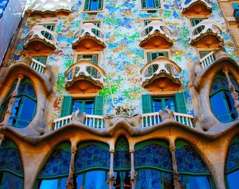 Casa Batllo Barcelona Spain - 8x10 Photograph