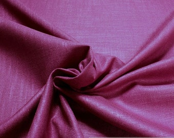 Fabric rayon linen plain hot pink heavy violet