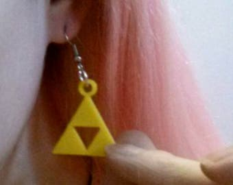 Legend of Zelda inspired Triforce earring and necklace set