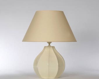 Ceramic lamp Angular Beige