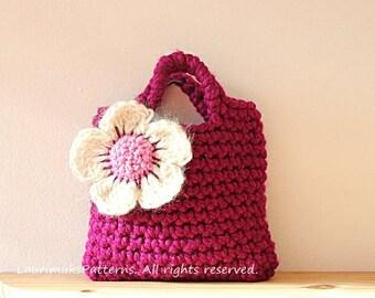 CROCHET PATTERN for girls - kids flower bag purse pattern  - Listing75