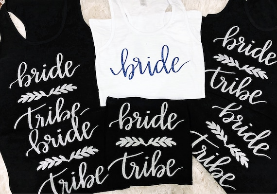 Bride Tribe Bridal Party Tanks || Bachelorette Party Tank Tops Tees