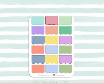 Half Bracket Boxes | Planner stickers for the new Erin Condren Planner