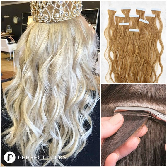 Wavy Tape In Extensions 100 Remy High Quality Human Hair