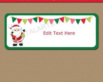 EDITABLE Holiday Address Labels Christmas Return Address