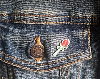 Rose Pin // Accessory // Jewelry // Gifts for Her // Gifts for Him