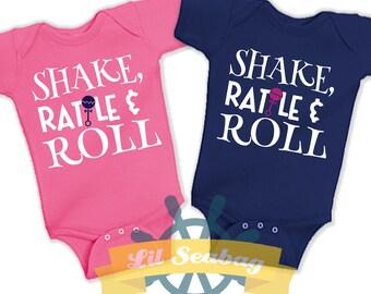 Shake Rattle And Roll, Bodysuit, Creeper, New Baby, Baby Shower Gift, Cute Kids Shirt