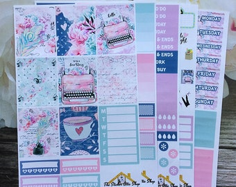 "Planner Sticker Kit / ""Love Story"" /  EC Vertical Weekly Kit"