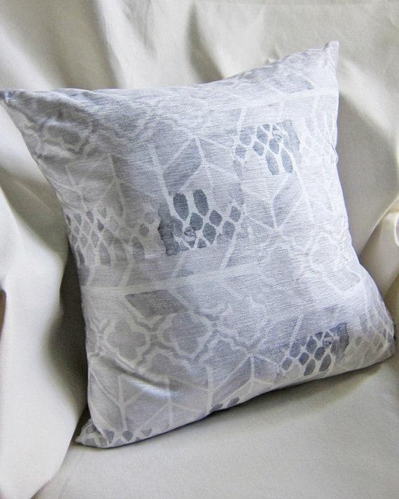 Contemporary Silver Gray Pillow Cover, 18x18
