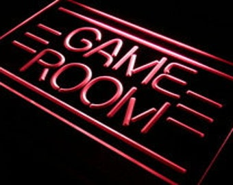 Neon Sign LED Game Room Decor Man Cave Video Games