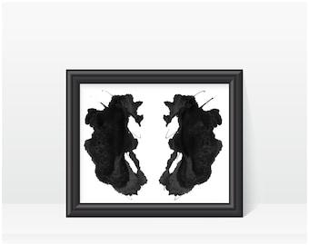 Therapist Office Decor Artwork Rorschach Inkblot Art print no 26