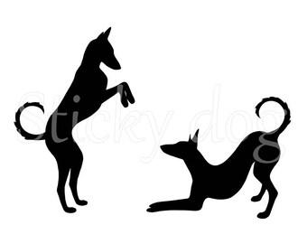 Podenco Ibicenco silhouette sticker