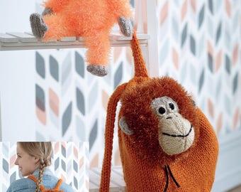 Tinsel Orangutan Toy & Backpack Knitting Pattern