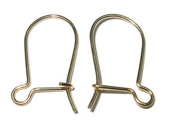 14K Yellow Gold Filled Earrings Hooks