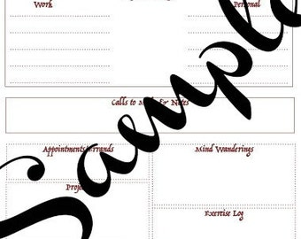 Downloadable Tudor Style To Do Pages