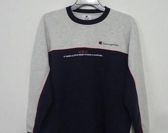 Vintage Champion  Sweatshirt Sport Street Wear Swag Hip Hop Sweater
